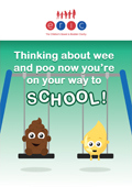Thinking about wee and poo now youre on your way to school.