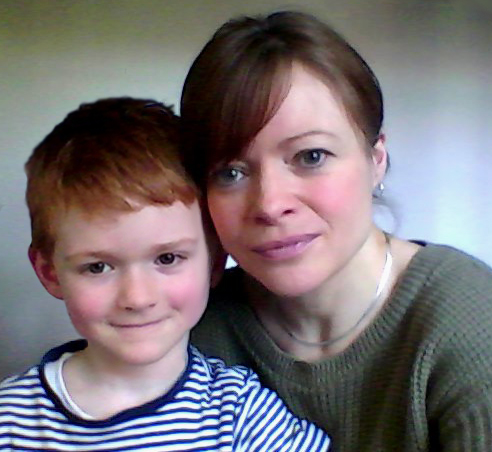 Sophia Ferguson and her son Max
