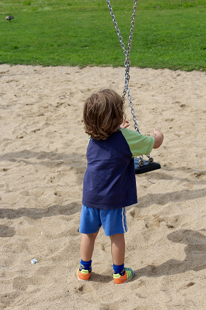 Boy with swings