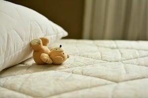 Teddy on mattress