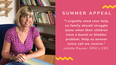 ERICs Summer Appeal for help to answer all calls to their helpline