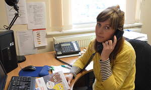 Helpline worker