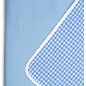 Brolly Sheets single waterproof bed pad with wings - blue