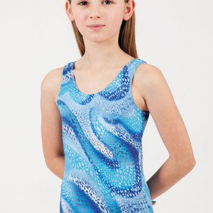 Hi-Line girls swimsuit - blue bubbles, age 3-4 (other sizes available)