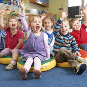 happy children at nursery