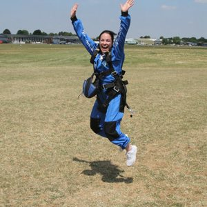 Skydiver jumping