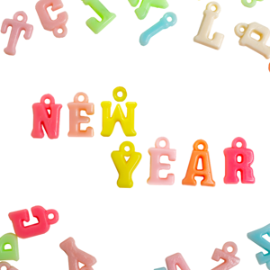 Letters spelling New Year