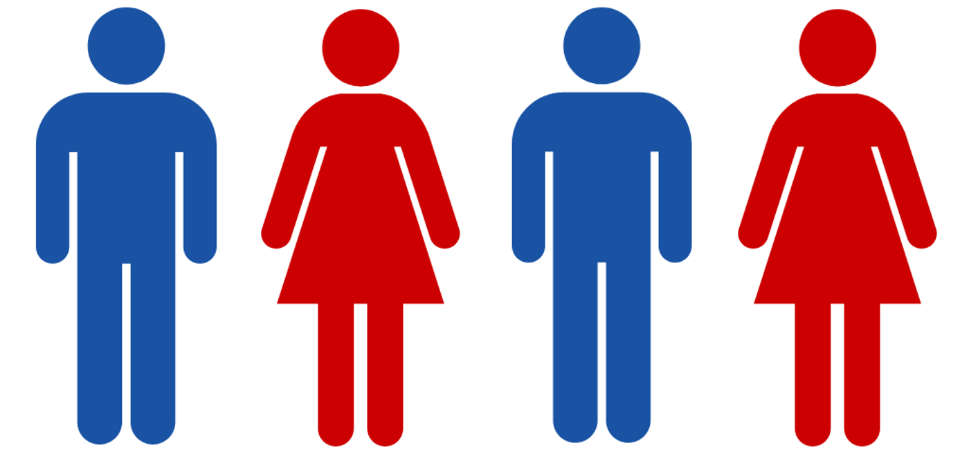 Male and female toilet sign icons