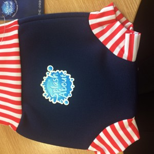 Happy Nappy Navy/Red/White 0-4 mths