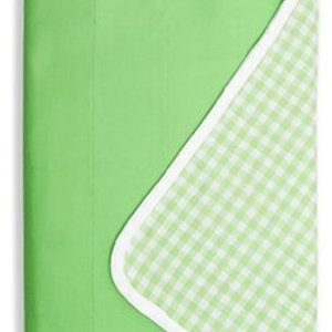 Brolly Sheets single waterproof bed pad with wings -  lime green