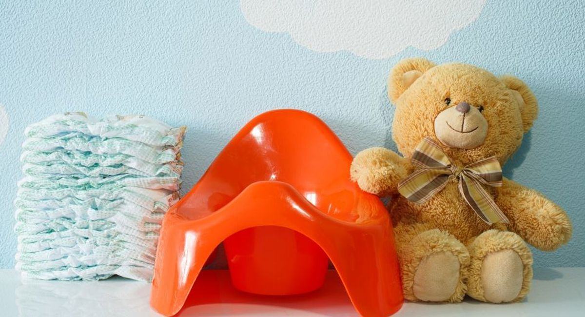 potty with teddy bear